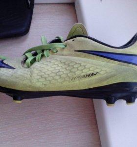 Футбольные бутсы Nike Hypervenom/бу