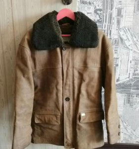 Куртка кожаная зима-весна
