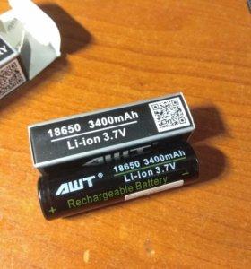 Аккумуляторы 18650 AWT высокотоковые