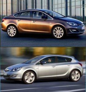 Накладки нержав хром на ручки дверей Opel Astra J