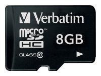 Карта памяти Verbatim microSD 8gb. Class 10