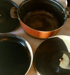Хлебница, эмалированная посуда, кастрюля, сковород
