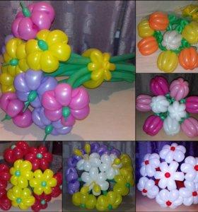 Букеты из шаров.
