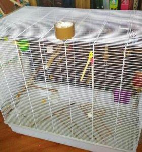 Большая клетка для попугаев, птиц
