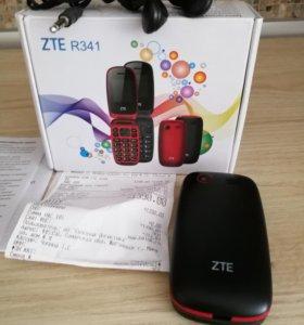 Телефон-раскладушка, ZTE R341. Новый.