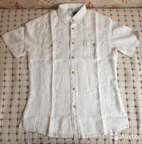 Рубашка мужская льняная 48-50 новая