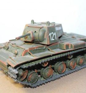 готовая модель танка КВ-1 1:35