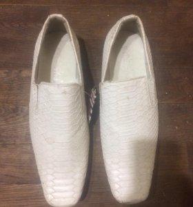 Туфли Мужской белые кожа размер 40