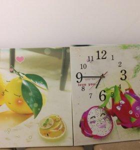 Постеры для кухни - часы