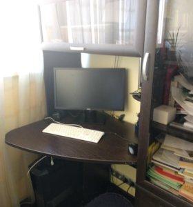 Стол компьютерный со шкафом, многофункциональный