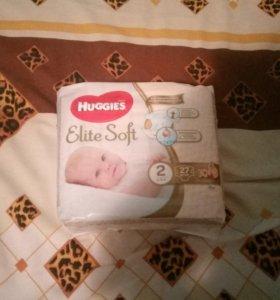 Подгузники HUGGIES Elite Soft размер 1 и 2