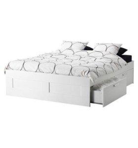 Кровать икеа с матрасом