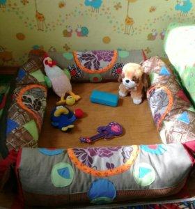 Детский манеж напольный раскладной