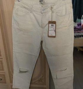 Новые джинсовые бриджи размер 48-50