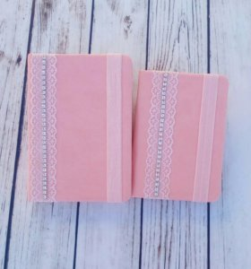 """Блокнот + обложка """"Розовая нежность"""""""