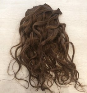 Волосы натуральные на заколках (2 комплекта)
