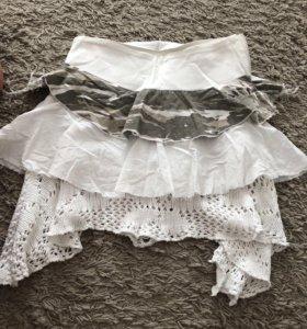 ❤️Оригинальная многослойная юбка милитари и круж❤️