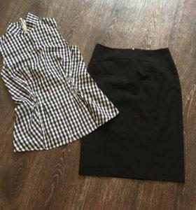 Юбка, рубашка 42 раз
