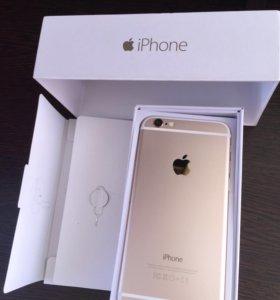 Айфон 6 золотой на 16гиг