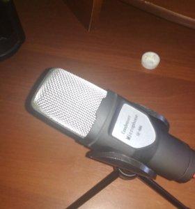 Конденсаторный микрофон, с подставкой