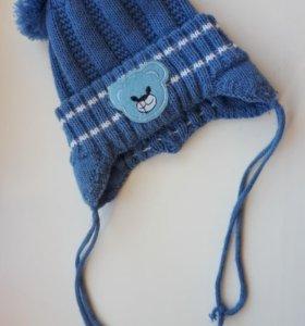 Зимняя шапка для ребенка от 3 месяцев
