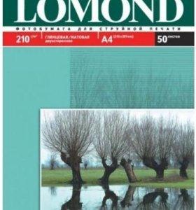 Фотобумага lomond A4, 210г/м2, 50 л глянц+ мат