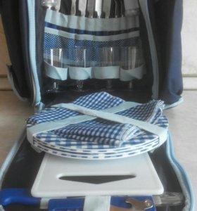 Рюкзак с набором посуды внутри