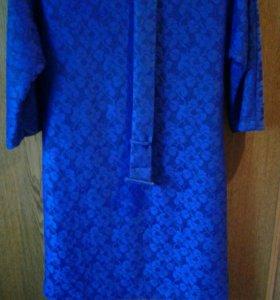 Ярко -синее платье