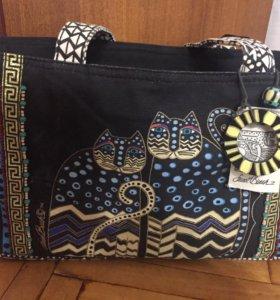 Новая сумка из хлопка Laurel Burch