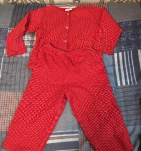 Кофточка штанишки пижама костюм комплект