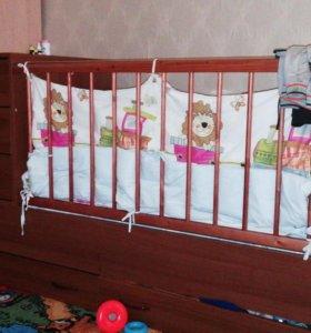 Кровать трансформер с матрасом