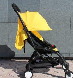 прогулочная коляска, цвет желтый