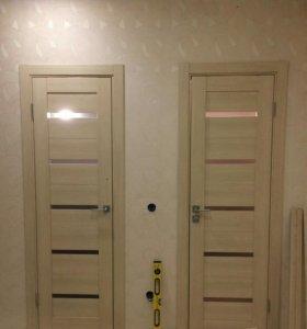 Установка входных и межкомнатных дверей!