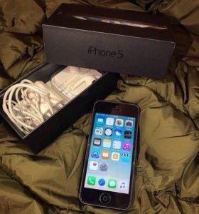 iPhone 5 16gb Black идеал