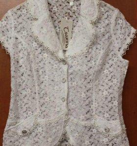 Новая ажурная блузка 44-46 р-р