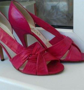 Кожаные винтажные туфли