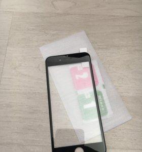 Защитное стекло на iPhone 6/6S (чёрный)