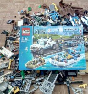 Конструктор лего City 60045 police patrol+ аналоги