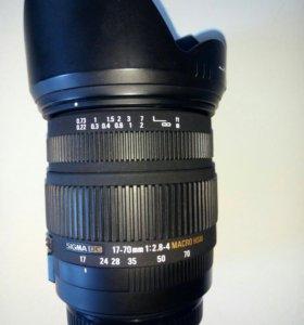 Sigma DC 17-70mm 1:2,8-4 Macro HSM