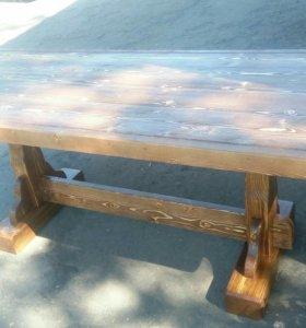 Стол 2 метра из сосны