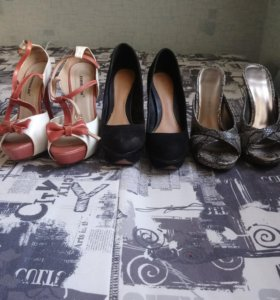 Туфли женские 3 пары 500р