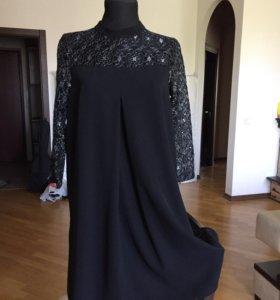 Вечернее платье-трапеция