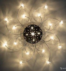 Потолочная люстра 21 лампочка с пультом
