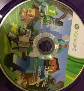 Игра Minecraft и Batman на Xbox 360
