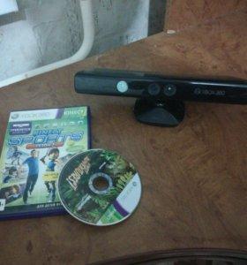 Kinekt для Xbox 360 + 2 игры