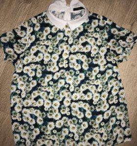 Блуза с ромашками Mohito