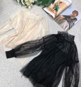 Блузка в наличии 🖤🖤рр 42-44 ЧЕРНАЯ