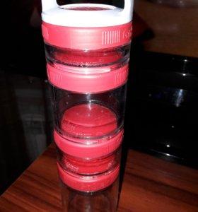 Новая сортивная бутылка 4-х мерная
