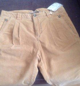 микровельветовые джинсы / брюки Zara 46-48 размер
