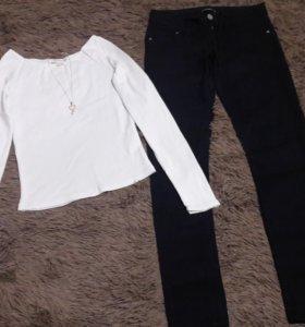 Кофта белая и джинсы